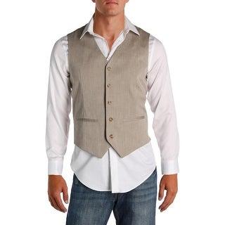 Perry Ellis Mens Suit Vest Classic Fit Linen - S