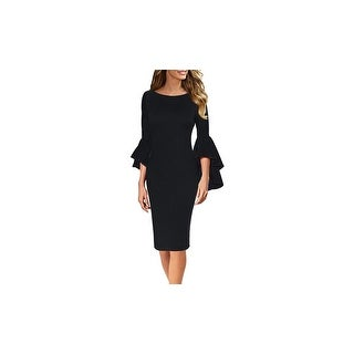 Link to Haute Edition Women's Bell Sleeves Cocktail Party Dress Similar Items in Tops