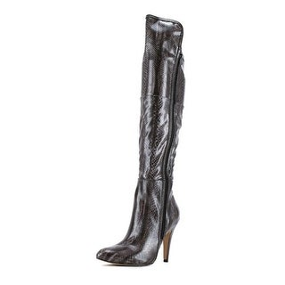 Mia Anastasia Pointed Toe Synthetic Knee High Boot