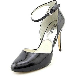Michael Michael Kors Georgia Ankle Strap   Round Toe Patent Leather  Heels