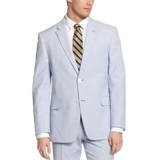 Tommy Hilfiger Polk Cotton Blazer 38 Short 38S Blue and White Striped