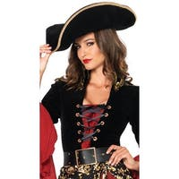 Women's Pirate Hat - Black - One Size Fits most