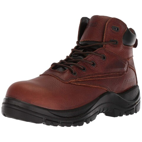 Adtec Mens CI-9006 Leather Soft toe Lace Up Safety Shoes - 10.5