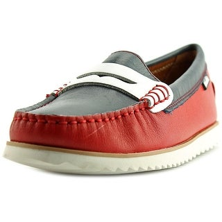 Venettini 55-Timo Youth Moc Toe Leather Red Loafer