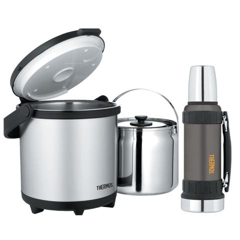 Thermos Thermal Cookware and Carry (4.5 Liters) with 1.25 qt Bottle