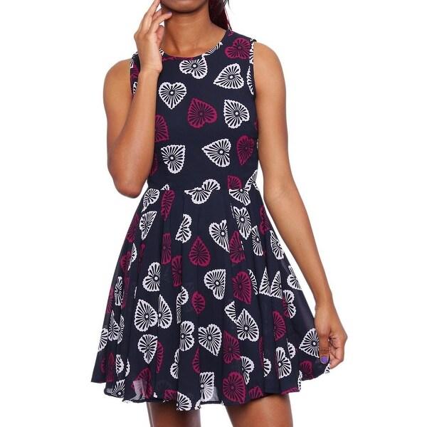 36f5a84ec8917 Shop Maison Jules Sleeveless Heart-Print Fit & Flare Dress Women ...