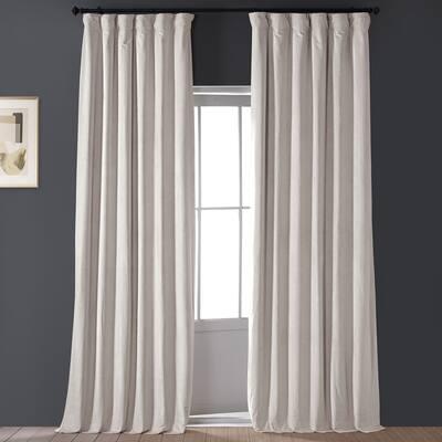 Exclusive Fabrics Signature Light Beige Velvet Blkt Curtain