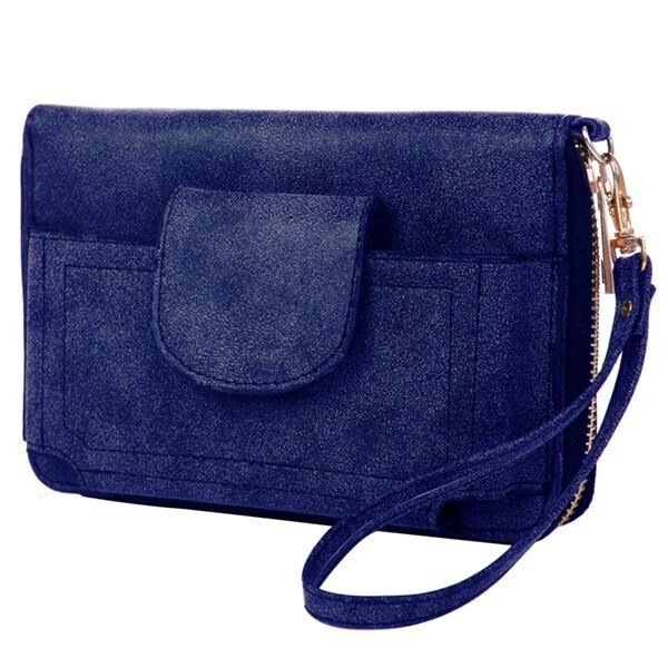 Mad Style Navy Phone Wallet - Navy Blue