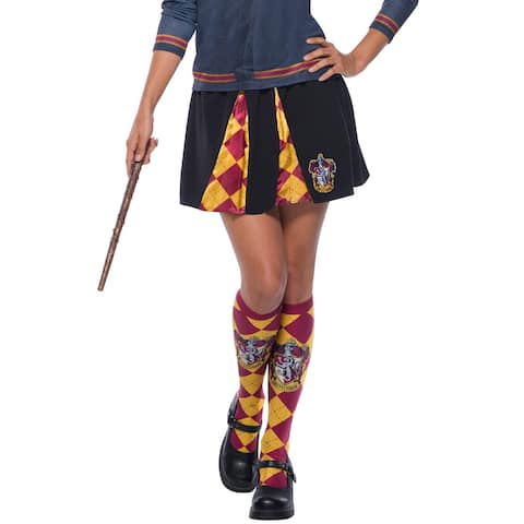 Rubies Gryffindor Skirt Adult Costume - Black/Red - One Size Fits Most