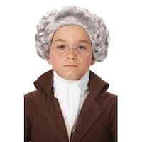 California Costumes Child Colonial Peruke Wig (Gray) - grey