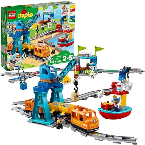 Lego Duplo Cargo Train Exclusive Battery-Operated Building Blocks Set