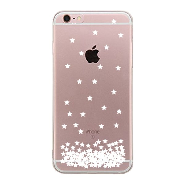 Apple iPhone 6 6S Plus Transparent Scratch Resistant Phone Cover (Stars Pattern)