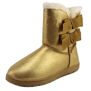 Rampage Beatrix Youth Round Toe Synthetic Gold Winter Boot
