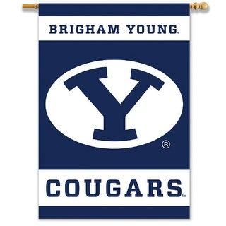 Bsi Products Inc Brigham Young Cougars 2-Sided Banner with Pole Sleeve Banner