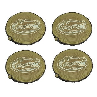 Florida Gators Set of 4 Glow In the Dark Tree Stump Stepping Stones - TAN