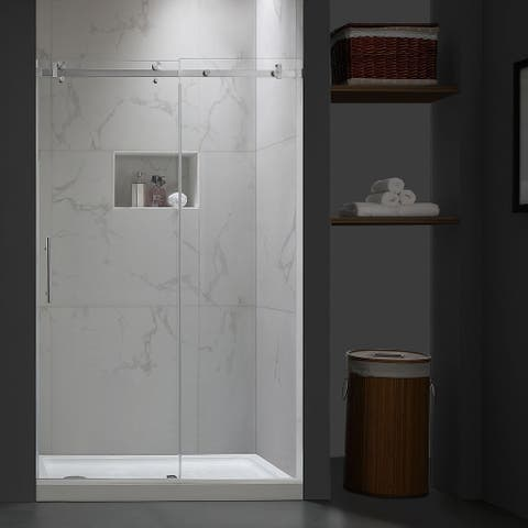 "Corvus 44-48"" W × 76"" H Single Sliding Frameless Shower Door"