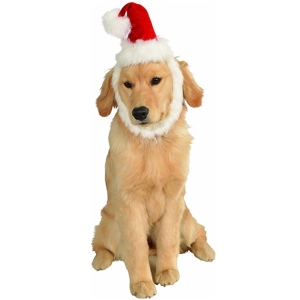 ecf273aab4214 Shop Rubies Santa Hat With Beard Pet Costume - Free Shipping On Orders Over   45 - Overstock - 18690078
