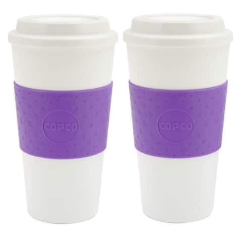 2 Pack Copco Acadia 16 oz. Insulated To Go Mugs, Lilac