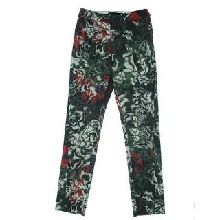 Cedric Charlier Womens Wool Blend Satin Dress Pants - 4