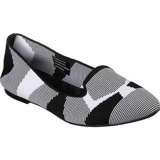 Skechers Women's Cleo Sherlock Flat Black/White