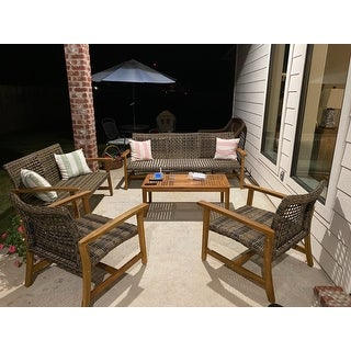 Hampton Wicker Outdoor Club Chair (Set of 2) by Christopher Knight Home