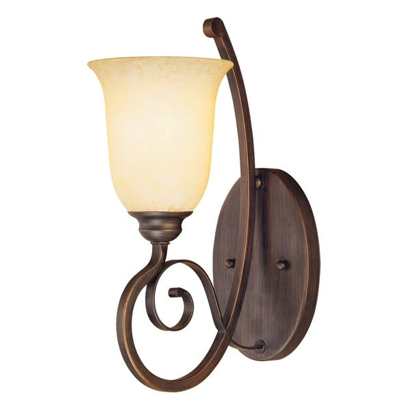 Millennium Lighting 1051 Chateau 1-Light Indoor Wall Sconce - Rubbed bronze