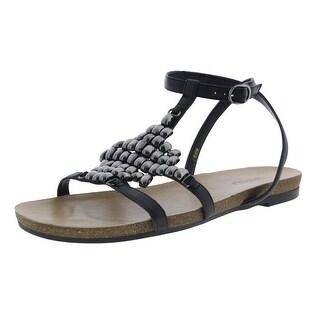 VANELi Womens Belgin Flats Leather T-Strap