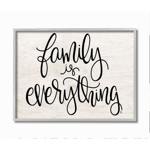 Stupell Industries Family Is Everything Rustic Quote Farm Home Sign Framed Wall Art Beige Overstock 31610213