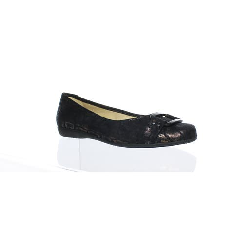 Trotters Womens Sizzle Black Flats Size 6.5