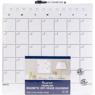"One Month Design; Frameless - Quartet Magnetic Dry-Erase Calendar Tile 14""X14"""