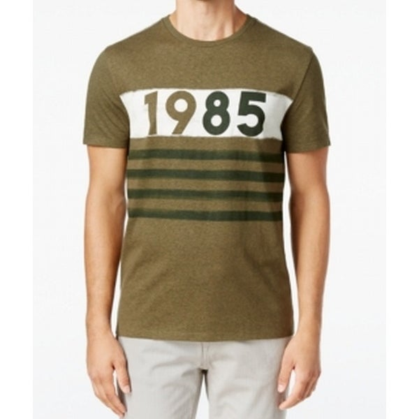 ac4b229f Shop Tommy Hilfiger NEW Green Mens Size XLT 1985 Stripe Graphic Tee T-Shirt  - Free Shipping On Orders Over $45 - Overstock - 19678310