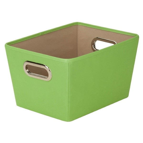 Honey Can Do SFT-03074 Decorative Storage Bin with Handles, Lime Green, Small