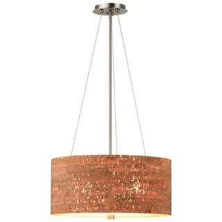 "Forecast Lighting F192236 3 Light 20"" Wide Pendant from the Alentejo Collection - Satin Nickel"