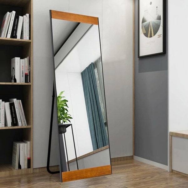 Modern Full Length/Floor Mirror Leaning Bedroom/Living Room - 21.26x64.17. Opens flyout.