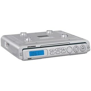 Sylvania Skcr2613-Silver Under-Cabinet Cd Clock Radio