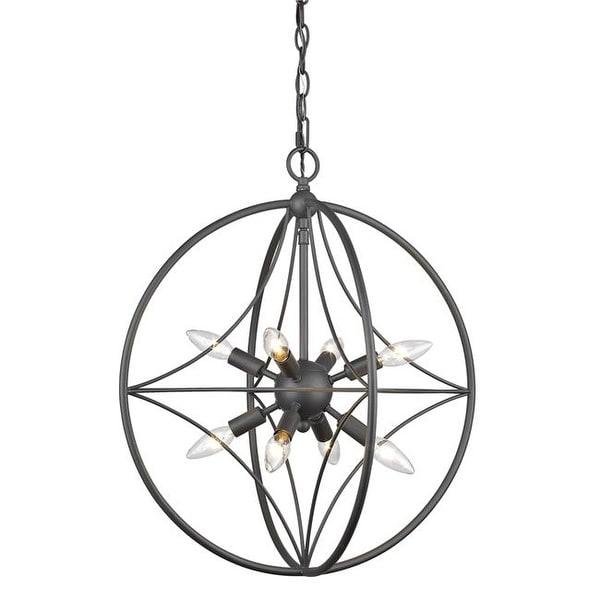 Shop Z Lite 452 20brz 20 In Cortez 8 Light Bronze Pendant Ceiling