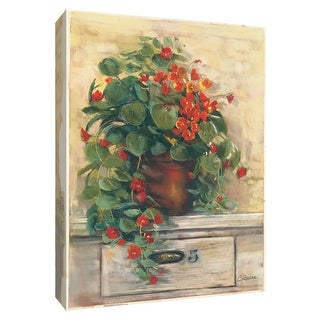 "PTM Images 9-154190  PTM Canvas Collection 10"" x 8"" - ""Nasturtiums"" Giclee Flowers Art Print on Canvas"