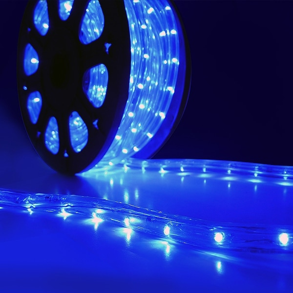 Onebigoutlet LED Rope Light 2Wire 110v Wedding Party, 50' FT, Blue
