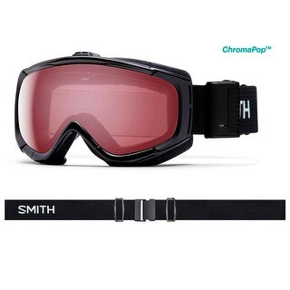 Smith Optics 2017/18 Phenom Turbo Fan Goggle - Black Frame, ChromaPop Everyday Rose Lens
