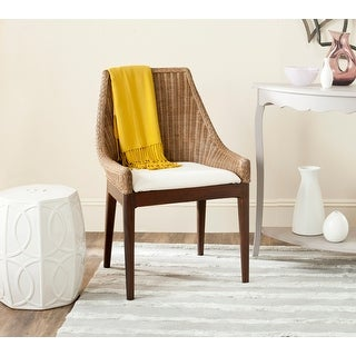 """Link to Safavieh Rural Woven Dining Franco Brown Sloping Chair - 23.5"""" x 24.3"""" x 35.3"""" Similar Items in Dining Room & Bar Furniture"""