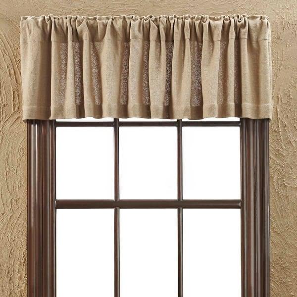 Shop Farmhouse Kitchen Curtains Vhc Cotton Burlap Valance Rod Pocket Solid Color Overstock 17925685