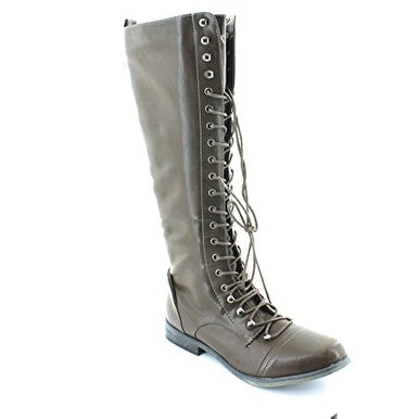 XOXO Womens Baker Almond Toe Mid-Calf Fashion Boots
