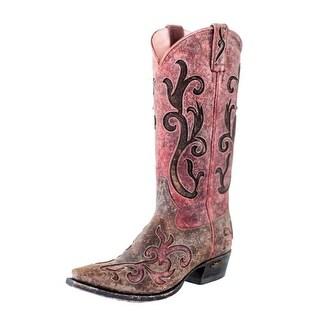 Miss Macie Western Boots Womens Lynita Distressed Brown