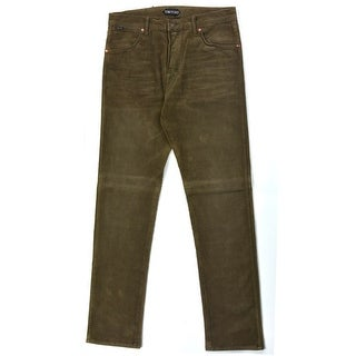 Tom Ford Brown Corduroy Selvedge Tapered Fit Jeans - 32