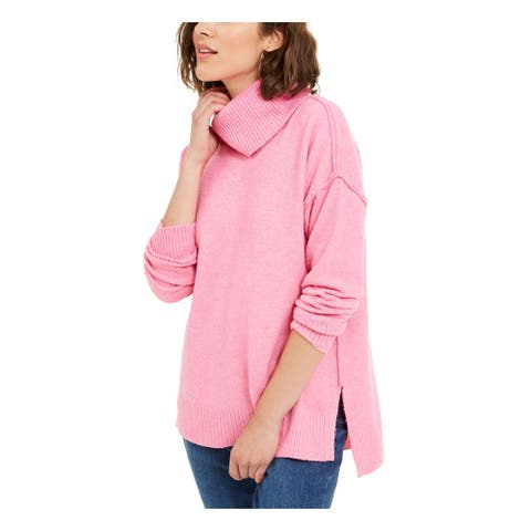 BAR III Womens Pink Long Sleeve Turtle Neck T-Shirt Sweater Size XS