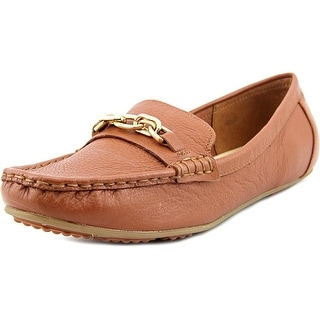 Isaac Mizrahi Alexis Women Square Toe Leather Loafer