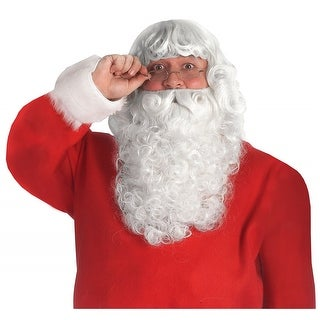 Deluxe Santa Beard & Wig Set Adult Costume Accessory