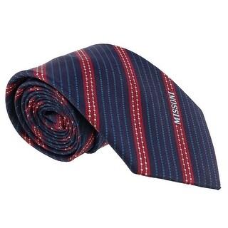 Missoni Multi Stripe Blue/Red Woven 100% Silk Tie
