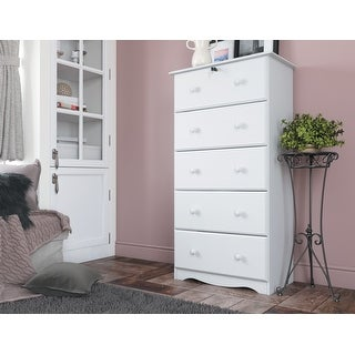 Link to Solid Wood 5-Super Jumbo Drawer Chest with Lock by Palace Imports Similar Items in Dressers & Chests