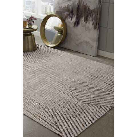 Strick & Bolton Renew Abstract Geo Area Rug